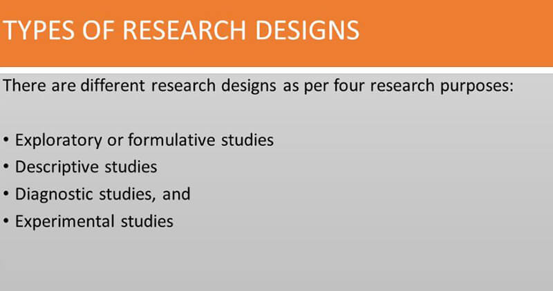 what are the 4 types of research design