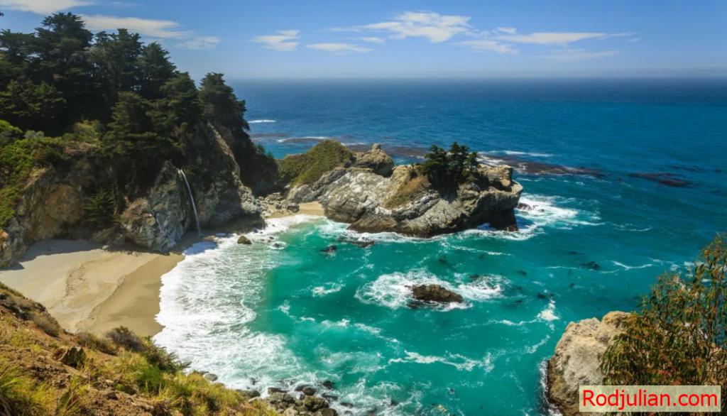California! Beautiful scenery attracts visitors!