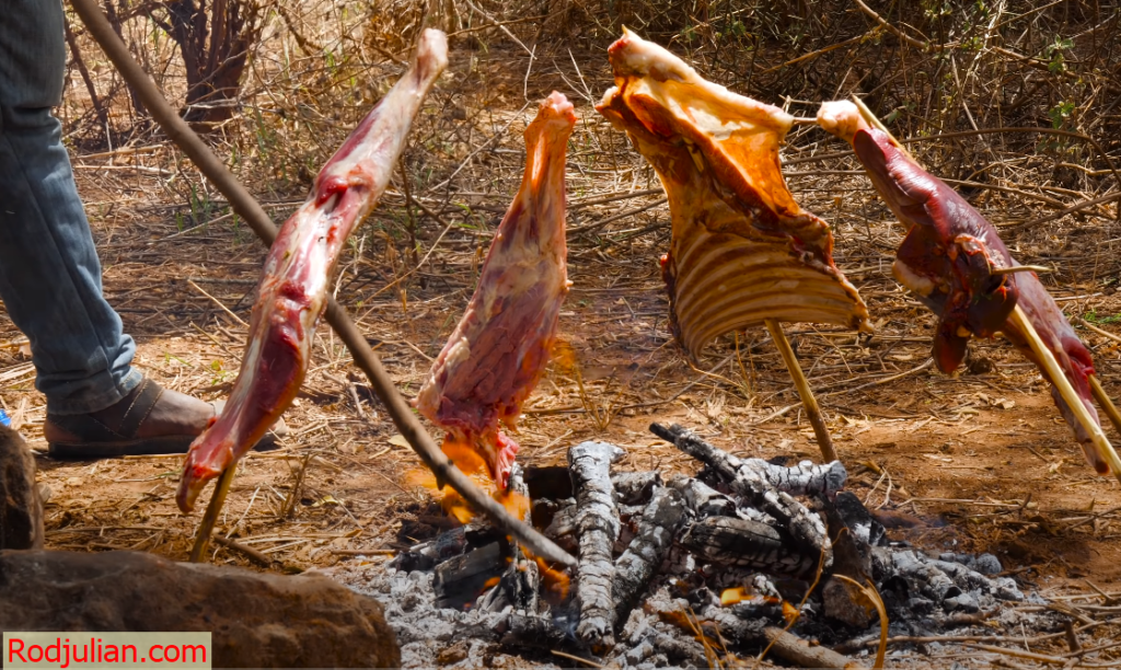 Exotic tribal food in Kenya! Rarely Seen Food of the Maasai People!